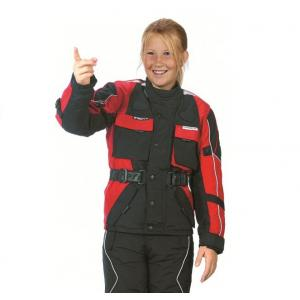 Detská bunda na motocykel Roleff čierno-červená