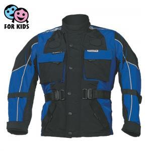 Detská bunda na motocykel Roleff čierno-modrá