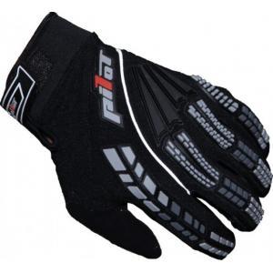 MX rukavice na motocykel Pilot čierne