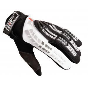 MX rukavice na motocykel Pilot čierno-biele
