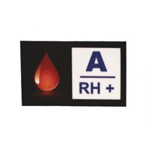 Nálepka s krvnou skupinou A RH+