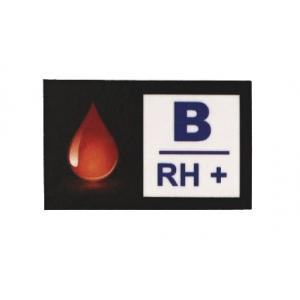 Nálepka s krvnou skupinou B RH+