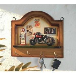 Vešiak na kľúče drevený - 4 háčiky