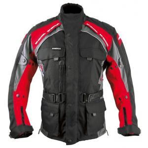 Bunda na motocykel Roleff Liverpool čierno-červená