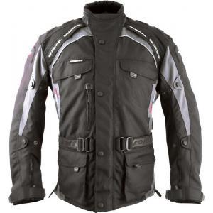 Bunda na motocykel Roleff Liverpool čierno-sivá