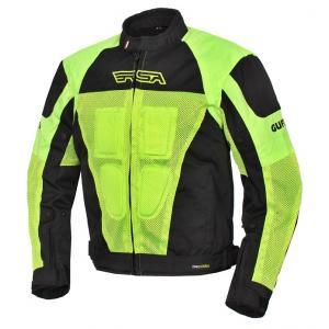 Bunda na motocykel RSA Guff čierno-fluorescenčno-žltá