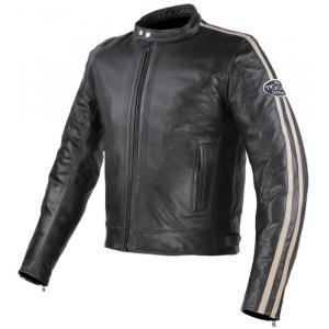 Bunda na motocykel Tschul 640 čierno-béžová