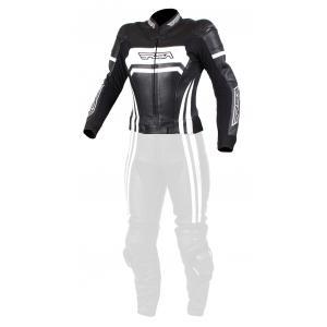 Dámska bunda na motocykel RSA Virus čierno-biela výpredaj