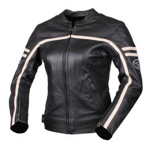 Dámska bunda na motocykel Tschul 635 čierno-béžová