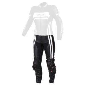 Dámske nohavice na motocykel RSA Virus čierno-biele výpredaj