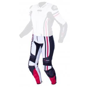 Dámske nohavice Tschul 556 bielo-čierno-červené vypredaj výpredaj
