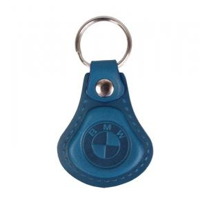 Kožený prívesok na kľúče BMW modrý