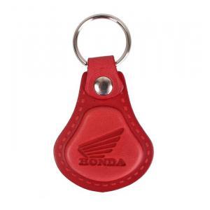 Kožený prívesok na kľúče Honda červený