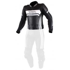 Pánska bunda na motocykel RSA Virus čierno-biela