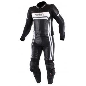 Pánska kombinéza na motocykel RSA Virus čierno-biela