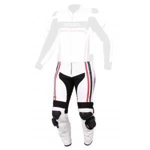 Pánske nohavice na motorku RSA Virus bielo-čierno-červené vypredaj výpredaj