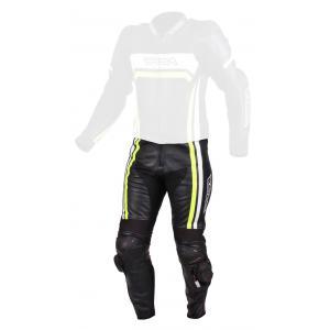 Pánske nohavice na motocykel RSA Virus čierno-bielo-fluorescenčno-žlté vypredaj výpredaj