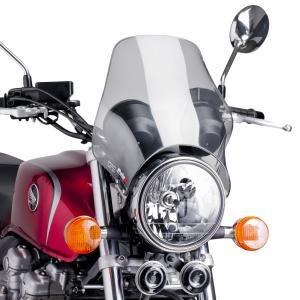 Plexi na motorku PUIG NAKED 0869H smoke univerzálne