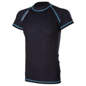 Termo tričko RSA Heat čierno-modré krátky rukáv