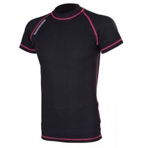 Termo tričko RSA Heat čierno-ružové krátky rukáv