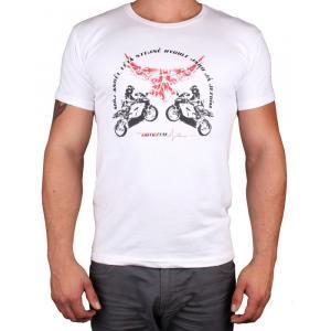 Tričko s motívom Motozem Angel biele