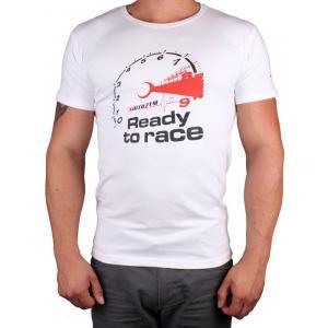 Tričko s motívom Motozem Ready to race biele
