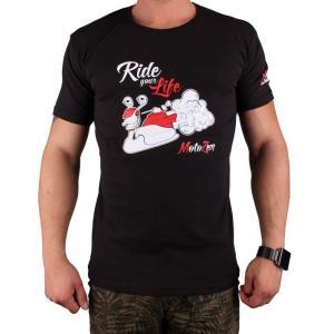 Tričko s motívom Motozem Ride your life čierne