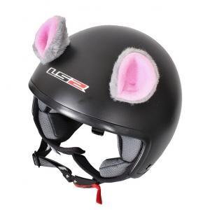 Uši na prilbu Myška ružová