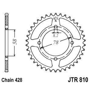 Reťazová rozeta JT JTR 810-41 41 zubov,428