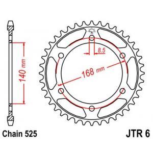Reťazová rozeta JT JTR 6-42 42 zubov,525