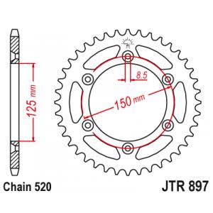 Reťazová rozeta JT JTR 897-47 47 zubov,520