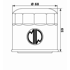 Olejový filter MIW S3011 (alt. HF138)