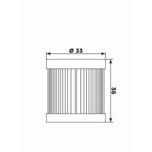 Olejový filter MIW P5005 (alt. HF181)