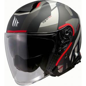 Otvorená prilba na motocykel MT Thunder 3 SV Bow čierno-šedo-červená