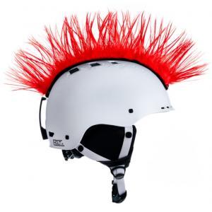 Číro na prilbu Mohawk červené