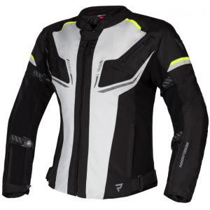 Dámska bunda na motocykel Rebelhorn Blast šedo-čierno-fluo žltá výpredaj