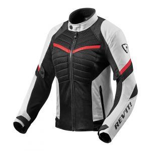 Dámska bunda na motocykel Revit Arc Air bielo-červená výpredaj