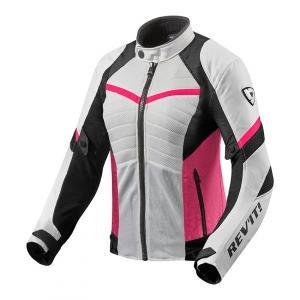 Dámska bunda na motocykel Revit Arc Air bielo-ružová výpredaj