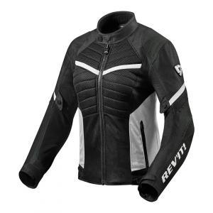 Dámska bunda na motocykel Revit Arc Air čierno-biela výpredaj