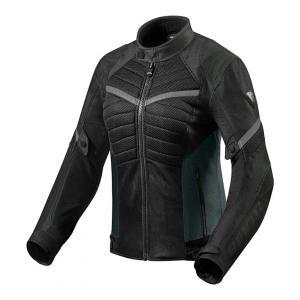 Dámska bunda na motocykel Revit Arc Air čierno-šedá výpredaj