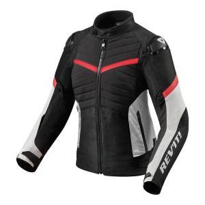 Dámska bunda na motocykel Revit Arc H2O čierno-červená výpredaj