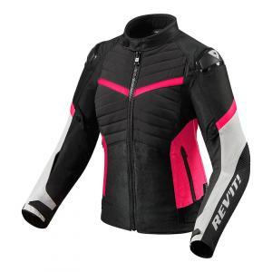 Dámska bunda na motocykel Revit Arc H2O čierno-ružová výpredaj