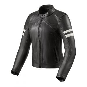Dámska bunda na motocykel Revit Meridian čierno-biela výpredaj