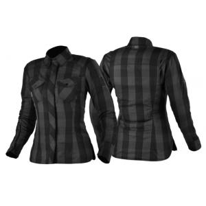 Dámska košeľa na motocykel Shima Renegade sivo-čierna výpredaj