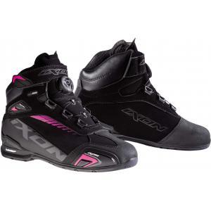 Dámska obuv na motocykel IXON Bull WP čierno-ružové - II. akosť