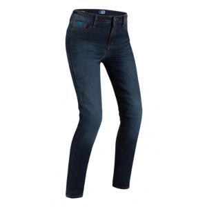 Dámske jeansy na motocykel PMJ Caferacer Legend tmavomodré