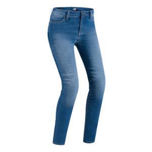 Dámske jeansy na motocykel PMJ Skinny modré výpredaj