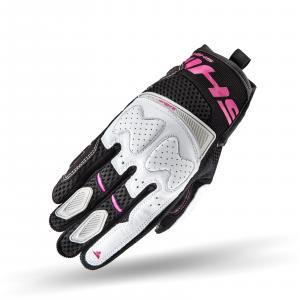 Dámske rukavice na motocykel Shima Blaze čierno-bielo-ružové