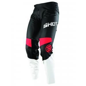 Detské motokrosové nohavice Shot Devo Slam čierno-bielo-červené