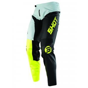 Detské motokrosové nohavice Shot Devo Storm čierno-šedo-fluorescenčno žlté